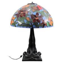 Bronze Art Nouveau Lamp