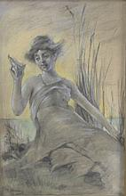 Dewing, Woman Holding a Shell, Original