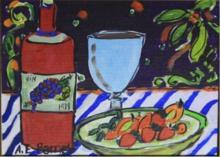 AE Barnes Original Painting Vino Time