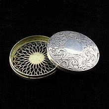 Sterling Sheffield Pill Box