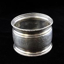 Woods & Hughes Silver Napkin Ring