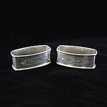 Pair of Webster Co. Oblong Napkin Ring