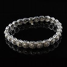 Ladies 5ct tw Diamond White Gold Tennis Bracelet