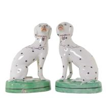 English Spaniel Pair of Porcelain Dogs