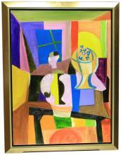 Original Oil on Canvas Abstract Still Life
