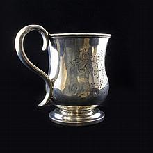 E. Cutler Child's Coin Silver Mug