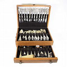 105 Pc. Wallace Grande Baroque Sterling Flatware S