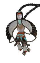 Zuni L & V Harker Indian Dancer Bolo Tie