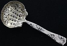 Whiting Silver Roses & Scrolls Bon Bon Scoop