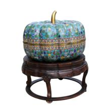 Monumental Chinese Cloisonne Gourd-shaped Covered