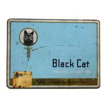Black Cat Virginia Cigarettes Tin
