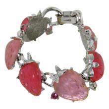 Vintage Lisner Strawberry Bracelet