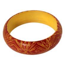 Vintage Bakelite Carved Bangle Bracelet