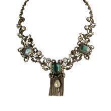 Vintage Rhinestone & Pearl Necklace