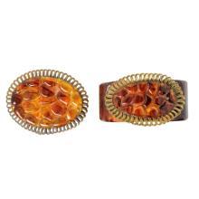 Vintage Bakelite Brooch & Hinged Bracelet