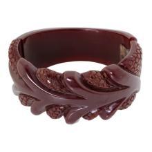 Vintage Carved Floral Bakelite Bracelet