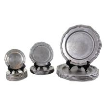 Group of Pewter Plates