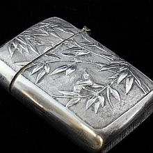 Vintage Silver Rare Chinese Match Safe