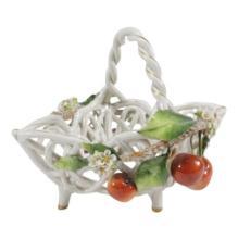 Von Schierholz Porcelain Open Weave Basket