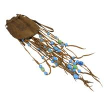 Split Hide Tobacco Pouch with Trade Beads