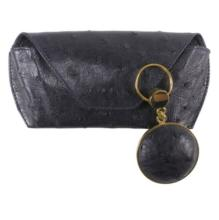 Ostrich Hide Glasses Case and Key Fob