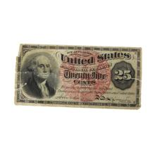 1863 U.S. 25 Cent Fractional Currency