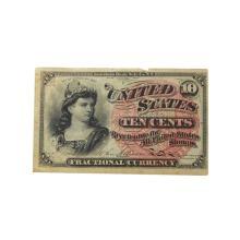 1863 U.S. Ten Cents Fractional Currency