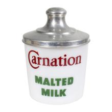 Carnation Malted Milk Glass Canister