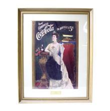 Framed Coca Cola 1904 Lillian Russell Print