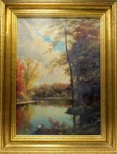 Henry Howard Bagg Oil On Canvas