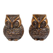 Pair of Decorative Bronze Toned Owls