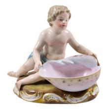 Meissen Seated Child Porcelain Figurine