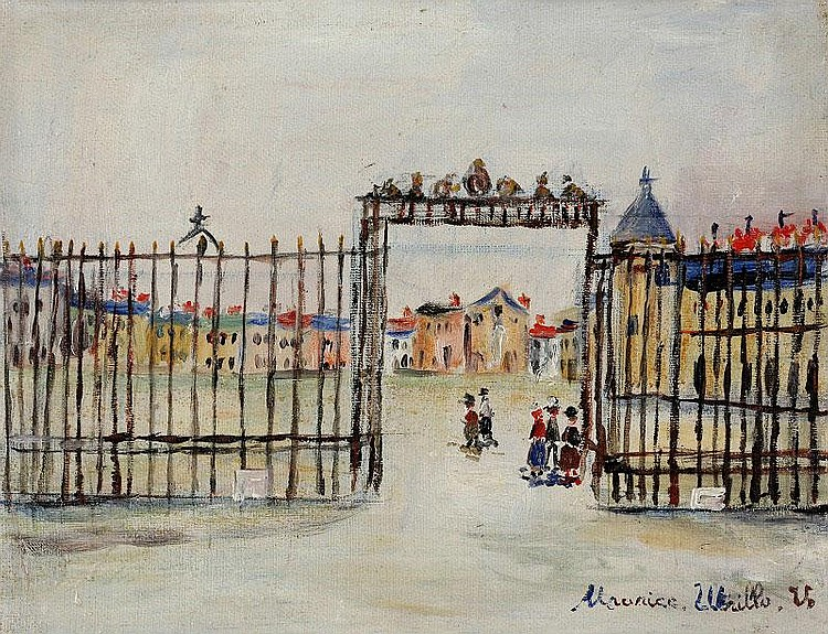 Maurice Utrillo, Versailles : oil on canvas,
