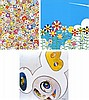 Takashi Murakami, Poporoke Forest/ Flower/ And Then x 6 (White: The Superflat Method, Blue and Yellow Ears) (set of 3)