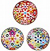 Takashi Murakami, Flowerball - Goldfish Colors (3D)/ Flowerball Pink/ Flower Ball (3-D) Kindergarten (set of 3)