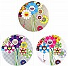 Takashi Murakami, Flowers for Algernon/ Even the Digital Realm Has Flowers to Offer !/ Purple Flowers in a Bouquet (set of 3)