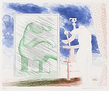 David Hockney, A Picture of Ourselves, from 'The Blue Guiter' (Scottish Arts Council 210/ M.C.A.T 189)