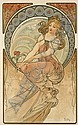 Alphonse Mucha, Painting, from The Four Arts, Alphonse Maria Mucha, Click for value