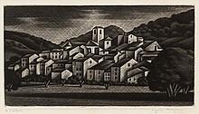 Kiyoshi Hasegawa, Vieux village (Meyrargues) (Reifushobo 214)