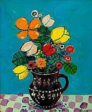 Paul Aizpiri, Bouquet au vase violet