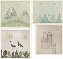 Keiko Minami, Town/ Net and Seagull/ Mountain/ Two Birds (NHK 67, 76, 83, 161)