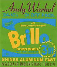 Andy Warhol, Exhibition Poster for Andy Warhol: Pasadena Art Museum (Brillo) (Not in Feldman & Schellmann)