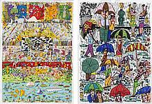 James Rizzi, Be Magical...Play...and Leap Joyfully into Life/ Rain (set of 2)