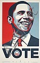 Shepard Fairey (OBEY), Vote (sold with 348B; set of 3), Shepard Fairey, Click for value