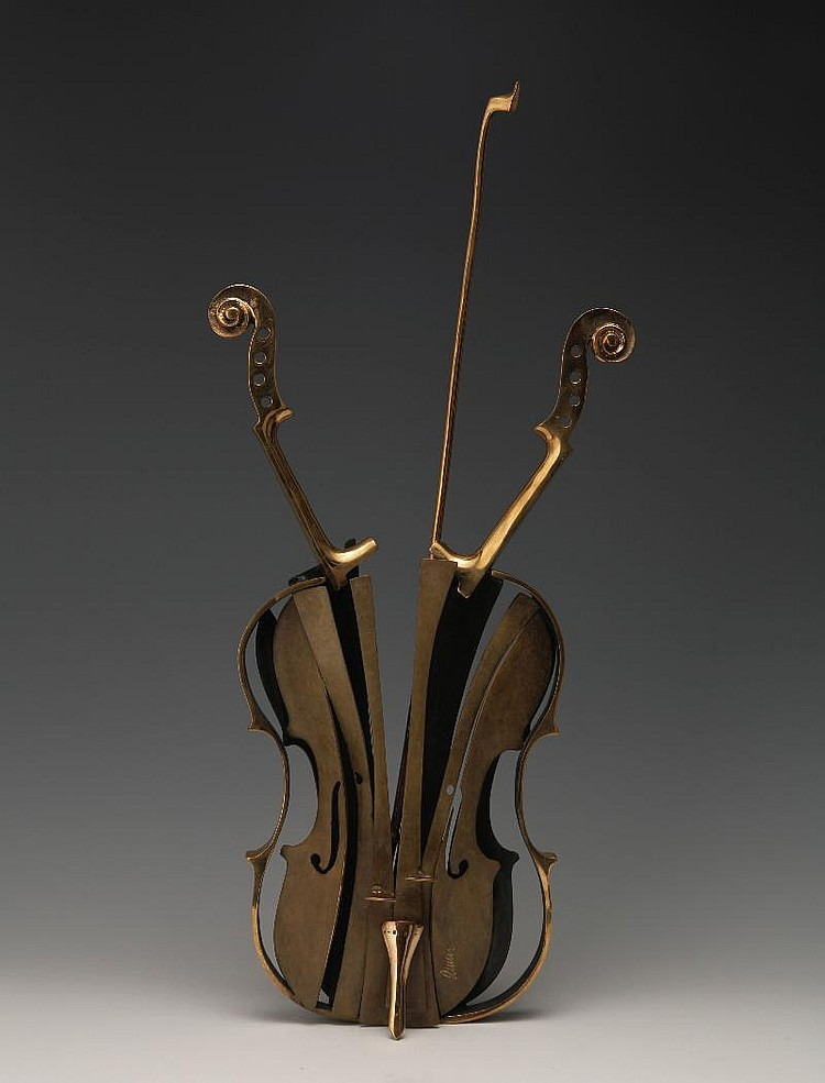 Arman, Violin Venise bronze, incised 'arman'