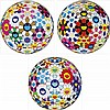 Takashi Murakami, Flower Ball (3-D) Autumn 2004/ Flower Ball (Lots of Colors)/ Flower Ball (3-D) Sequoia sempervirens