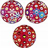 Takashi Murakami, Flowerball (3D) - Red Ball/ Flowerball (3D) - Blue, Red/ Groping for the Truth