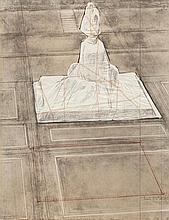 Christo, Wrapped Monument to Vittorio Emanuele, Project for Piazza del Duomo, Milano (Schellmann 78)