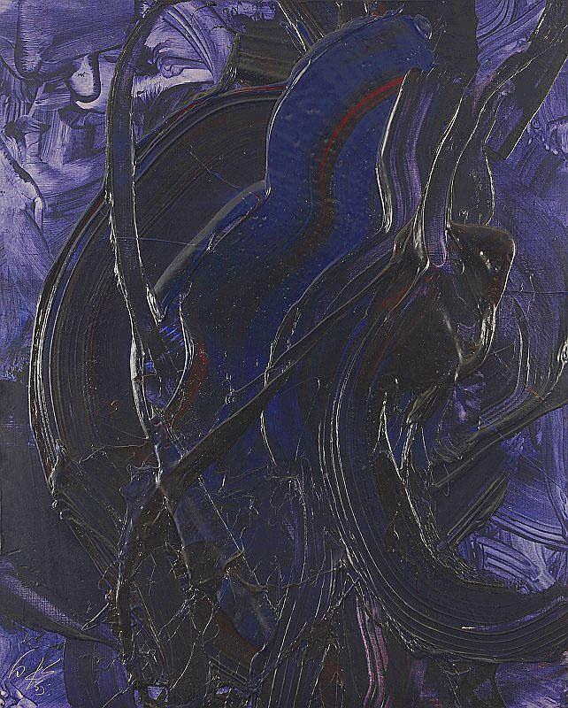 Kazuo Shiraga, Tomomori jusui (Blue Fudo Flame)