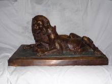 Erik Kramer (American, 20th Century), Lion and Lioness, Signed